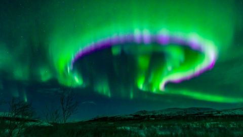 """~ The gate to the universe ~One of the most spectacular moments at our Arctic Aurora Chase 2020 photo expedition was the night in the far North, just 85 km South of Northcape. We just survived a snowstorm adventure where I got stuck on an icy coastal road and only with the help of a big snow shovel got loose. When I got away... Finn got stuck as well and the snow shovel had to return to pick him as well, while I had to drive over a stormy road full of snow dunes.But the reward was terrific. We found a good spot. While we were digging out the parking lot for the campervans, the show started. Hours of clear sky and big shows of Northern lights when all of a sudden this big twirl appeared. We were able to see both the green and pink colours as this 'gate to the universe' opened and closed within a few minutes. As we were allowed to travel back and forward in time, to see our past and future... we only had to enter the gate.I took this picture with the increddible #Sigma 14mm f/1.8 ART lens at 1"""", f/2.0 and ISO3200. This is by far the best Aurora lens!!!regards JohanWant to join me next year, to chase the Aurora with campervans through Finland, Sweden and Norway? Go to www.TaigaTravel.nl. There are a few places left."""