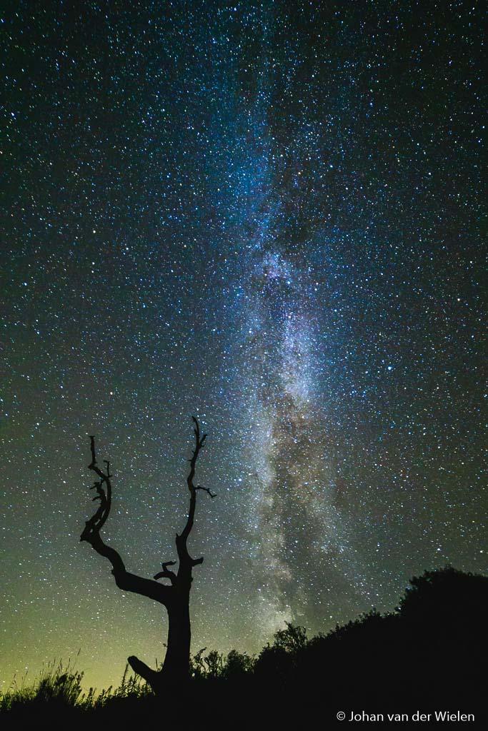 Melkweg boven Schiermonnikoog