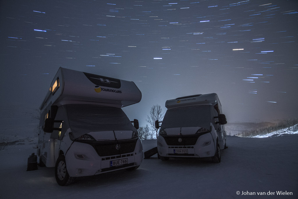 Campers in the night