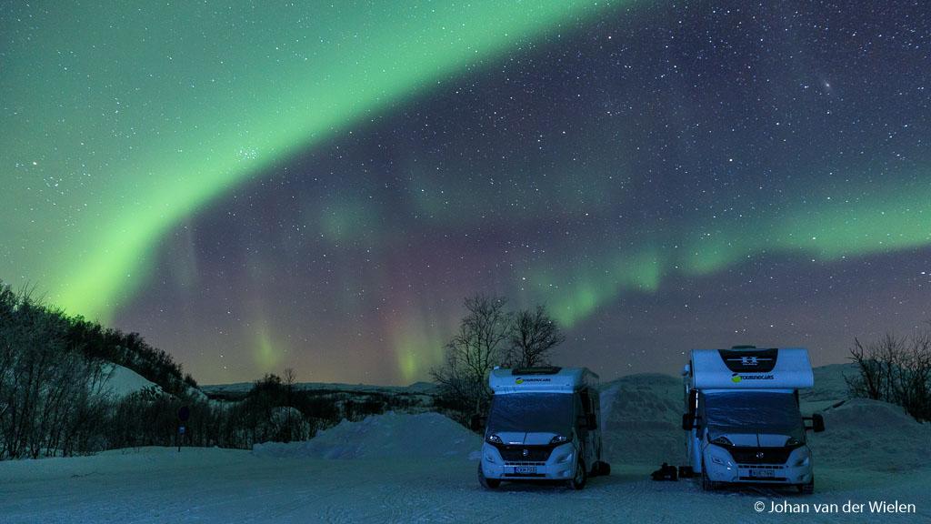 Campers under the Aurora