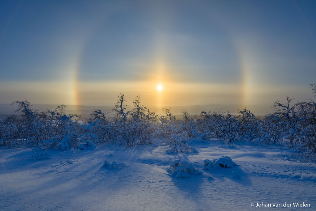 Sun halo, a winter spectacle