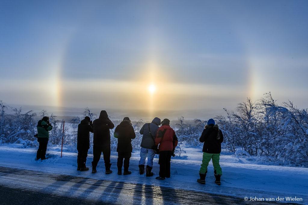 A typical winter phenomenon in the far north: the solar halo