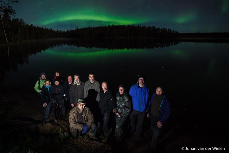 Groepsfoto fotografiereis ~ Finse herst ~ 2015, Johan in het midden hurkend