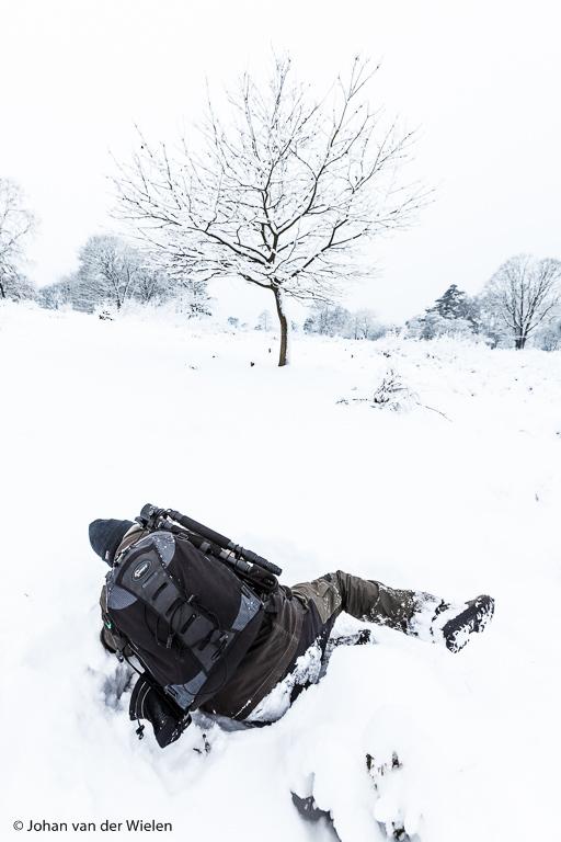 Sneeuw! Van dat witte zeldzame spul val je als fotograaf toch stijl achterover....