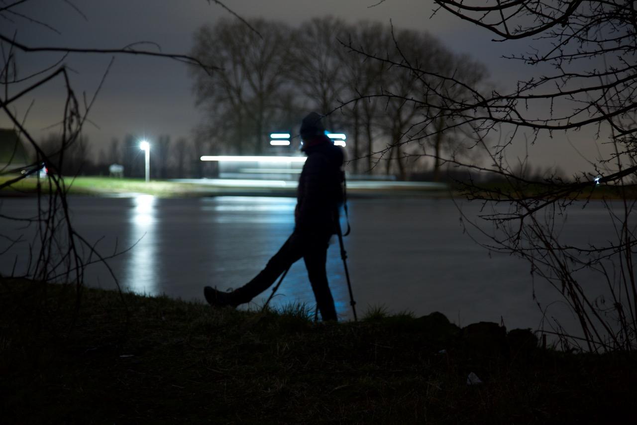 silhouet in de nacht, fotograaf: Edward Lammers