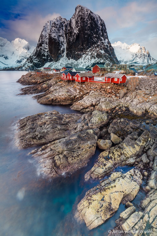 Beroemd beeld op Lofoten, 16mm, f/18, ISO100, 13.0 seconden met 8 stops grijsfilter.