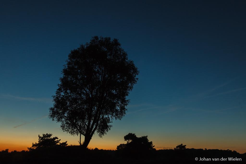 Overgang van de dag naar de nacht… ver na zonsondergang.