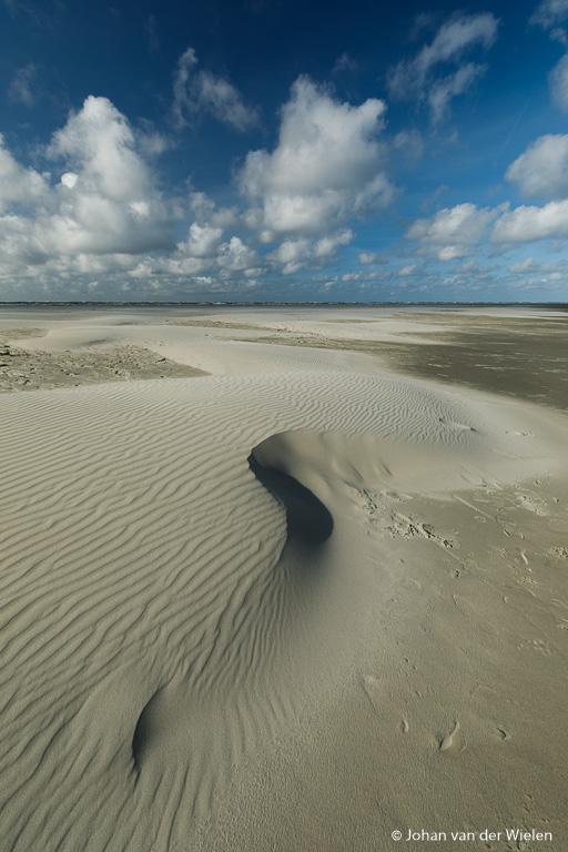 zandvormen door de wind