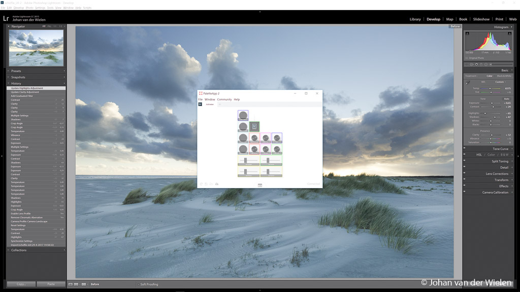 De Palette app, beetje klein in beeld maar dat heeft met mijn QHD-scherm te maken