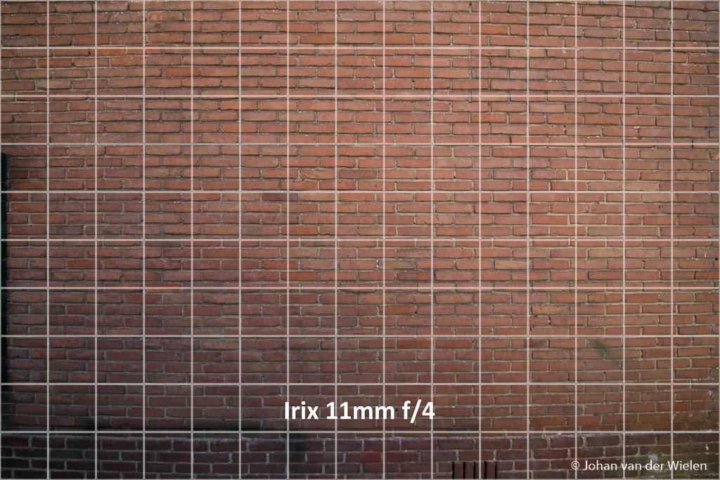 Tonvormige vervorming Irix 11mm