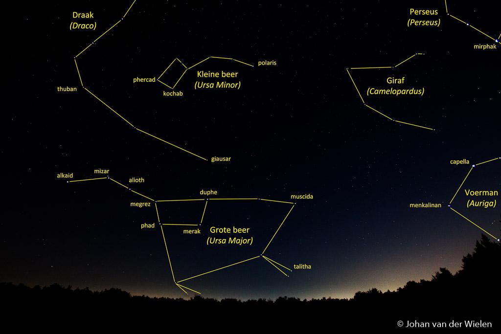 Met behulp van diverse apps herken je al snel zelf alle sterren en sterrenbeelden in het veld.