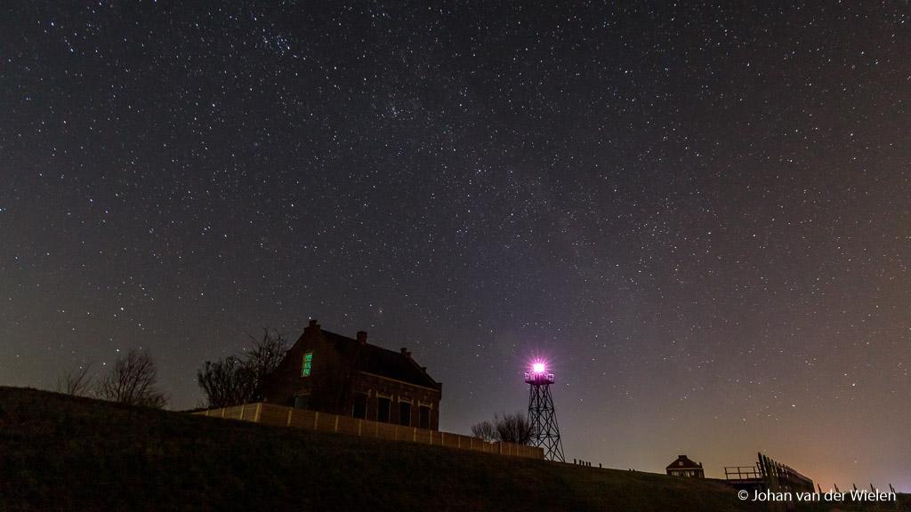 De nacht zoals hij zou kunnen zijn op Schokland. Gemaakt met een speciale True Night filter om lichtvervuiling weg te filteren.