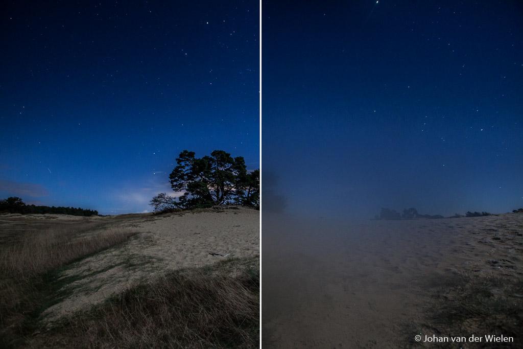 Een veel voorkomend probleem bij nachtfotografie in koude nachten: condensvorming.
