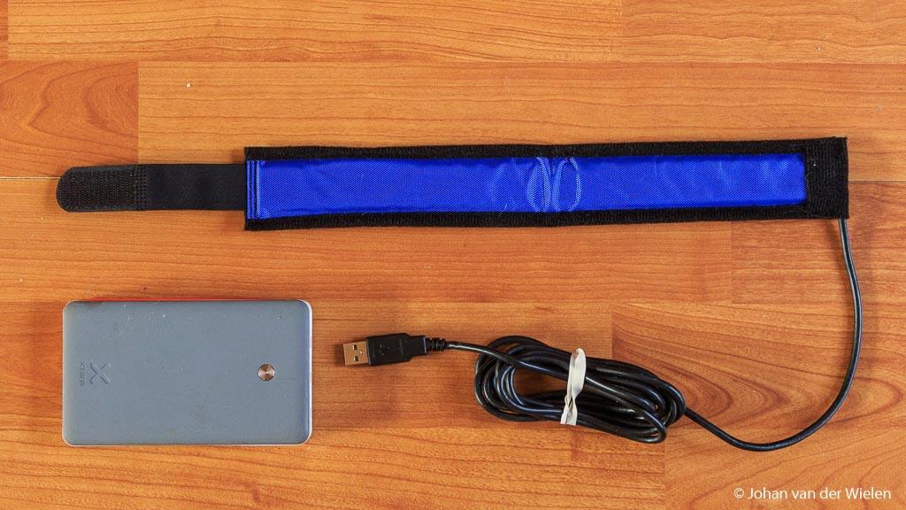 Dauwlint voor USB met powerbank.