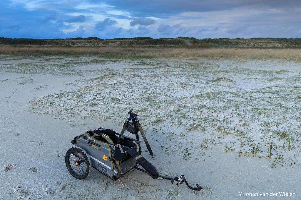 Hij past ook perfect achterin de fietskar...
