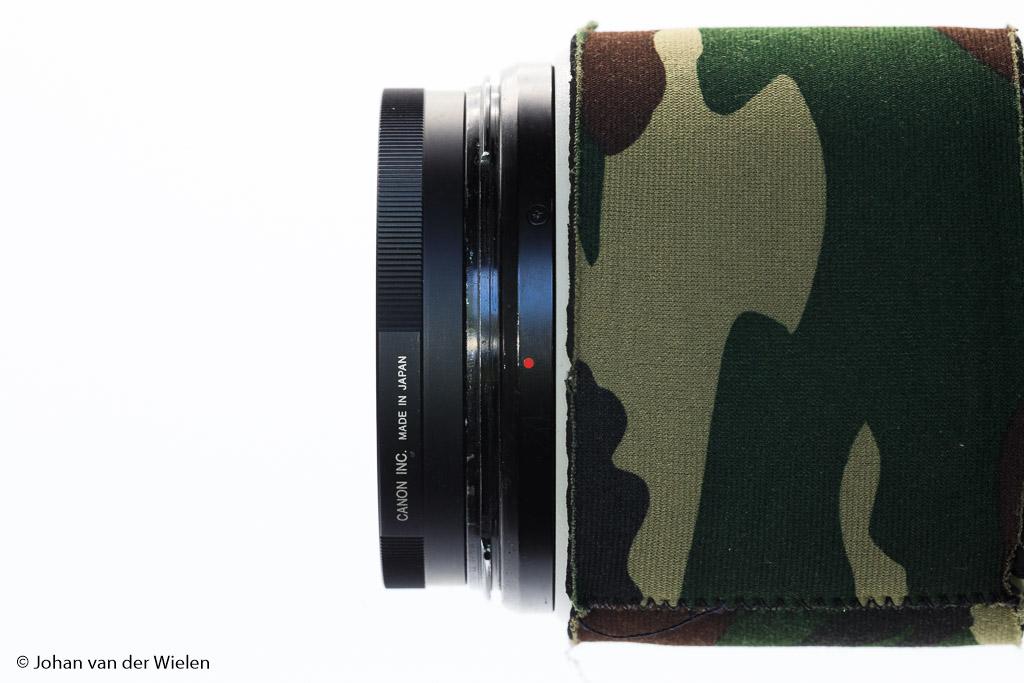 De Canon 500D close-up lens gemonteerd. Zorg er dus voor dat je de juiste filterdiameter hebt.