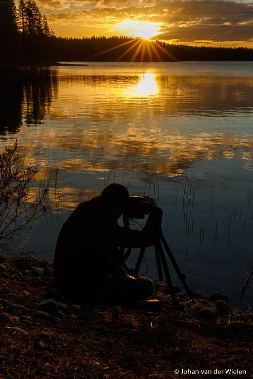 Heerlijk in alle rust met filters de zonsopkomst tegemoet.