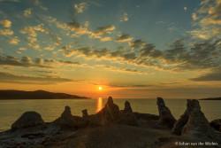 Middernachtszon in Noord Noorwegen... de Trollen onder Noordkaap in Hallelujah licht.