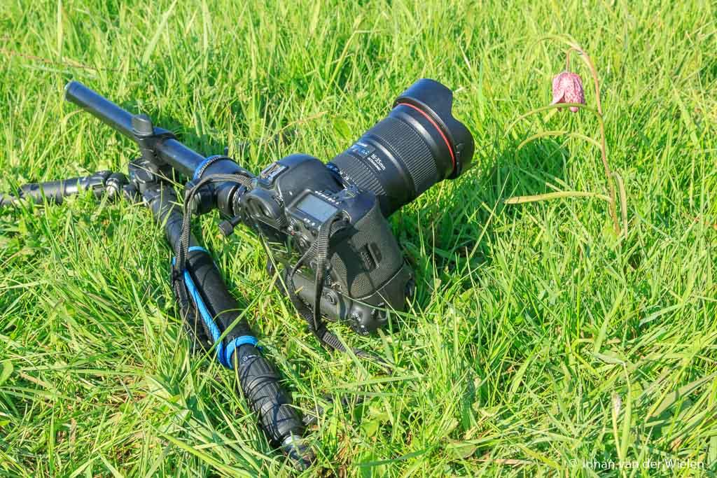 De Benro GoPlus FGP28C kan extreem laag, je camera ligt gewoon op de grond
