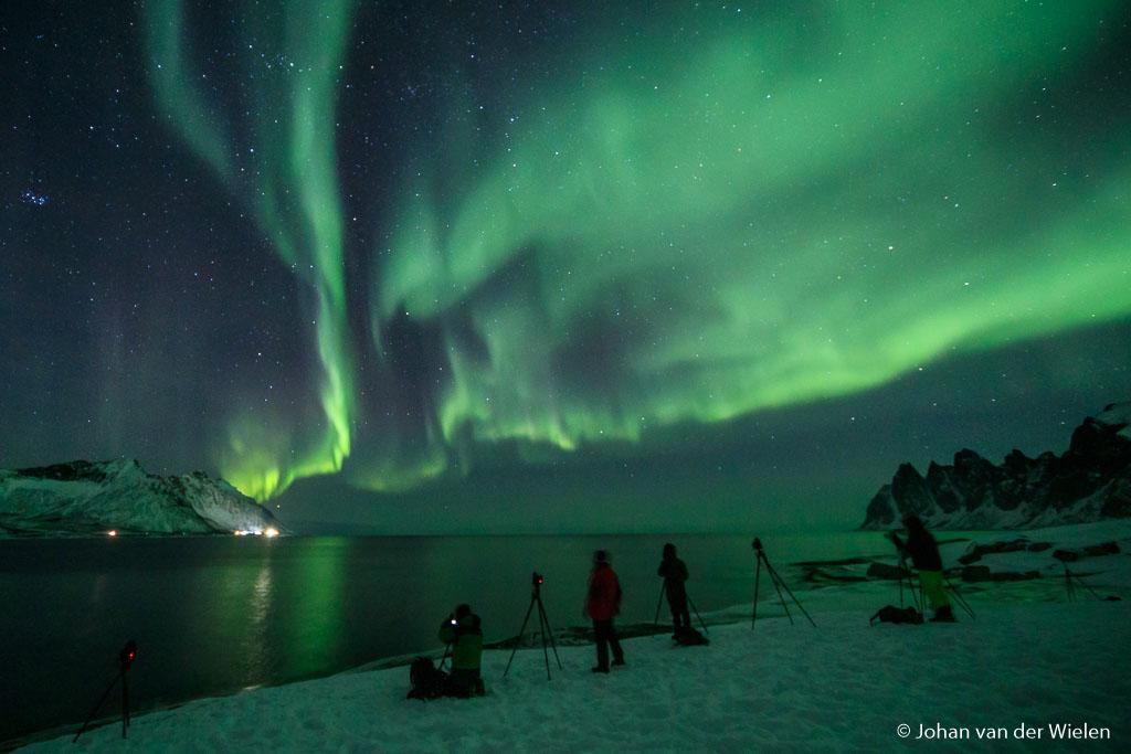 Noorderlicht en nachtfotografie, centraal tijdens de Arctic Aurora Chase.