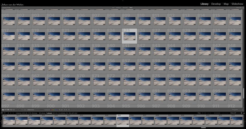 Dit is het lot van deze methode... een scherm vol met nagenoeg hetzelfde beeld en een berg nabewerking.